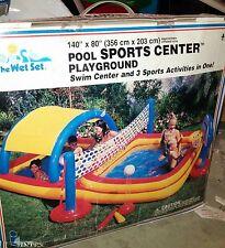 "HUGE Intex 140"" x 60""  Fun Pool Sport Center Playground. 3 Different Activities"