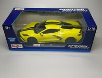 Maisto Special Edition 2020 Chevrolet Corvette C8 Stingray 1:18 Diecast YELLOW