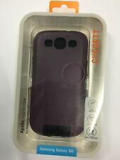 Samsung Galaxy SIII S3 Fitted Hard Case - Plum by Cygnett *Free Screen Protector