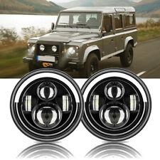 Paar 7 Zoll Runde LED Scheinwerfer Halo Angle Eyes für  Mercesdes Benz G Class