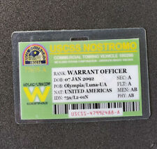 Aliens Id Badge-Uscss Nostromo Warrant Officer Cosplay