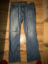 Mens Hollister Jeans W34 L32 boomer low rose slim boot good condition distressed