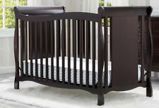 Baby Toddler 4-in-1 Convertible Crib Nursery Furniture Sleeping Bed Espresso New