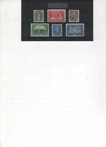 CANADA 1935 SILVER JUBILEE SC 211 - 216 USED WONDERFUL CANCELS