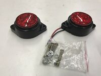 2 X RED LED SIDE TAIL MARKERS MINIBUS TRAILER BUS RECOVERY VAN TRUCK 12/24V