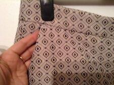 BNWT 🌹NEXT 🌹Size 12 Smart Ecru Geo Jacquard Slim Cigarette Taper Trousers New