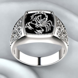 Handmade Turkish Jewelry Silver color Plated Scorpion Design Men's Ring Size 9-1