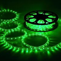 DELight® 50' Green LED Flex Rope Light In/Outdoor Home Holiday Party Xmas Decor.