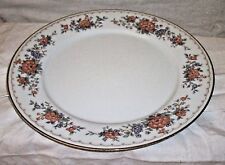 NORITAKE CHINA TREMONT CONTEMPORARY # 3081 DINNER PLATE GOLD TRIM MULTI COLOR