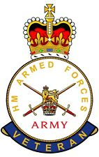 British Army HM Armed Forces Veterans Clear Cling Sticker