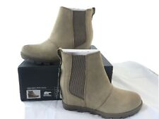 Sorel Joan of Arctic Wedge II Chelsea Boot Ash Brown Women's 7.5 Waterproof