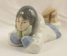Lladro Nao Figurine 1298 Dreaming on the Ice Eskimo Girl