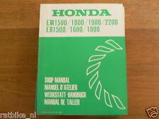 HONDA EM1500,1800,1900,2200,EB1500,1600,1900 SHOP MANUAL BOOK GENERATOR POWER