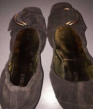 Ellen Tracy Shoes Size 8M Womens Gabby Chocolate Brown Ballet Flats