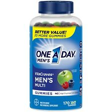 One A Day Mens Vitacraves 170 Multivitamin Mineral Immune Support Exp: 09/2021