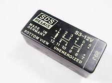 SDS Relais S3-12V Gold 12V 3xEIN 1xAUS 250V 4A Germany #13R100#