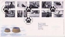 GB ROYAL MAIL FDC FIRST DAY COVER 2001 CATS & DOGS STAMP SET PETTS WOOD  PMK