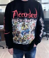 The Accused More Fun Open Casket Funeral Long Sleeve T-shirt Punk Metal Thrash M