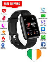Orologio Smart Nero Bluetooth frequenza cardiaca pressione sanguigna Monitor Fit