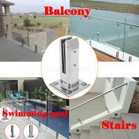 Edelstahl Geländerpfosten für Glashalter Glass Clamp Glasgeländer balkon Pfosten