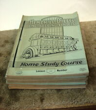 1936 - 1937 Hemphill Diesel Engineering Schools Home Study Course 25 Lessons