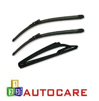 Front & Rear Wiper Blades Exact Fit For Nissan Qashqai