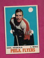 1970-71 OPC  # 193 PHILADELPHIA FLYERS EARL HEISKALA EX-MT CARD (INV# 9264)