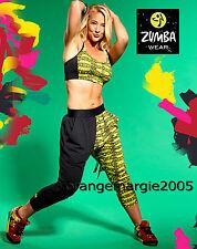 ZUMBA 2 Piece SET! Kingston Bra Top+Harem Capri Dance Pants XS S M L -EliteZWear