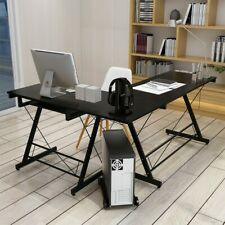 L-Shaped Corner Computer Desk PC Latop Study Table Workstation Home Office 62 in