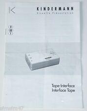 Originale Bedienungsanleitung Tape-Interface f.Projektor Kindermann Silent 2500