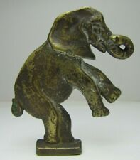 Old Brass Elephant Decorative Arts Topper Finial Toy Paperweight Circus Art