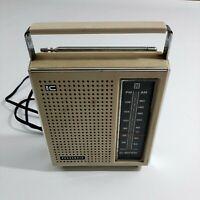 Vintage Panasonic Transistor Radio White RF-561 AM FM Portable Tested Rare Color