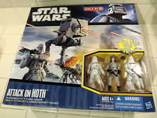 2010 Star Wars TARGET TESB Attack Hoth AT-ST DRIVER SNOWTROOPER Figure VEHICLE!