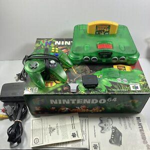 Nintendo 64 N64 Donkey Kong Jungle Green Set Complete With Orginal Styrofoam !