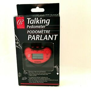 Red Bally Total Fitness Talking Pedometer New