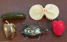 Pins Brooches Lapels Vintage Lot Of 5