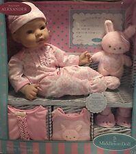"NEW Madame Alexander 16"" Middleton Baby Doll Newborn Nursery Set - Caucasian"