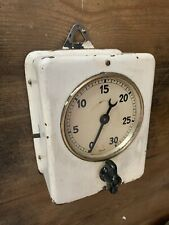 Vintage 1930's 30 Minute Wall Timer Good Working Order.