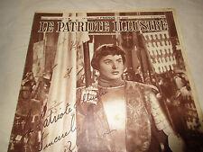 Le Patriote Illustre 1948 8 Fevrier February 8th 1948 Ingrid Bergman Joan of Arc