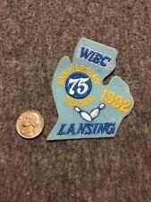 Vintage Wibc Lansing Michigan 1992 75th Anniversary Bowling Patch Mint
