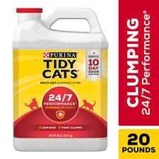 New listing Purina Tidy Cats Clumping Cat Litter, 24/7 Performance Multi Cat Litter, 20 lb.