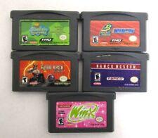 Set of 5 Game Boy Advance Games Spongebob Namco Winx Club Tested Working