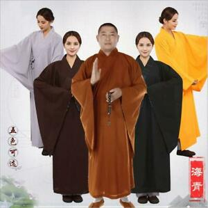 New Top Quality Buddhist Robe Monk Shaolin Meditation Uniform Kung Fu Suits Gift