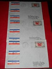 trio (3) 1939 canadian airmail covers,french royal train orbs/stamp, nice set **