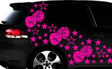 93-teiliges Sterne Würfel Cube Star Auto Aufkleber Tuning WANDTATTOO Blumen xx