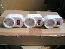 3 Zwischenstecker  Zwischenschalter  Steckdose  Schalter 250V / 16A NEU #1