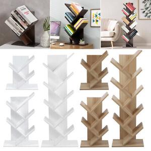 Book Display Shelf Tree Bookshelf Book Storage Rack Wood  3 5 9 Shelves Bookcase