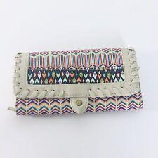 Rainbow Chevron Leather Wallet Boho Hippy