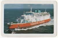 Playing Cards 1 Single Card Old TOWNSEND THORESEN Shipping Advertising CAR FERRY