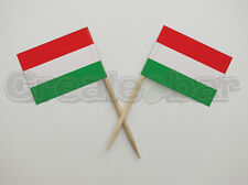 72 Hungarian Flag Picks - Buffet Sandwich Food Party Sticks - HUNGARY Flags